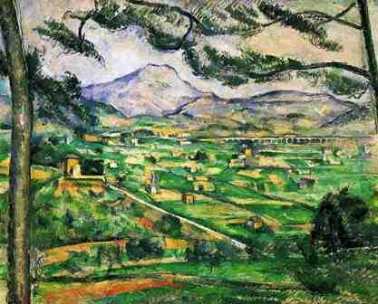 Cezanne Mont Sainte Victoire Seen From Lauves The Mont Sainte-victoire Seen